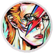 Ziggy Stardust Round Beach Towel
