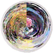 Zing Round Beach Towel by Anil Nene