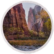 Zion Canyon Round Beach Towel