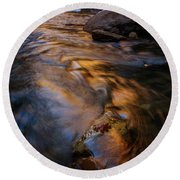 Zion Gold Round Beach Towel by Dustin LeFevre