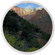 Zion National Park 20 Round Beach Towel