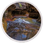 Zion Subway Round Beach Towel by Jonathan Davison
