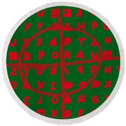Zodiac Killer Code And Sign 20130213 Round Beach Towel