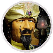 Round Beach Towel featuring the photograph Zoltar by Chuck Staley