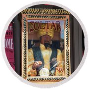 Zoltar Speaks Round Beach Towel
