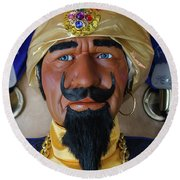Zoltar The Fotune Teller Round Beach Towel