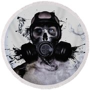 Round Beach Towel featuring the photograph Zombie Warrior by Nicklas Gustafsson