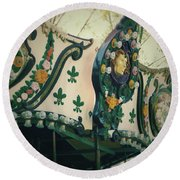 Zoo Carousel Ma Round Beach Towel
