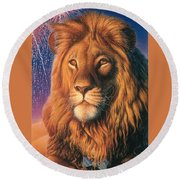 Zoofari Poster The Lion Round Beach Towel