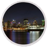 Zoom Montreal Round Beach Towel
