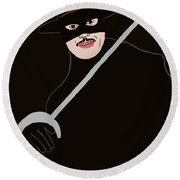 Zorro Round Beach Towel