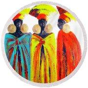 Zulu Ladies Round Beach Towel