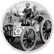 Zulu Motor Cab 1903 Round Beach Towel