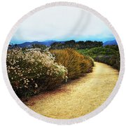 Round Beach Towel featuring the photograph Zuma Beach Pathway by Glenn McCarthy Art and Photography