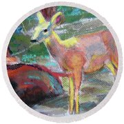 011719 Bambi 's Day Out Round Beach Towel