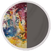 Playing With Color IIi Round Beach Towel