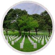 Arlington National Cemetery Round Beach Towel