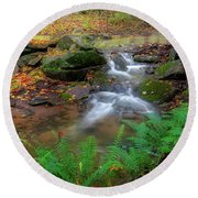 Round Beach Towel featuring the photograph Autumn Falling by Bill Wakeley