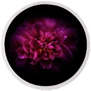 Backyard Flowers 55 Color Version Round Beach Towel