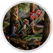 Battle Of Chancellorsville - The Wilderness Round Beach Towel
