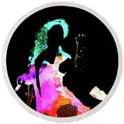 Beyonce Watercolor Round Beach Towel