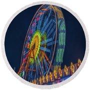 Round Beach Towel featuring the photograph Big Wheel-2 by Okan YILMAZ