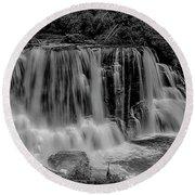 Blackwater Falls Mono 1309 Round Beach Towel