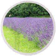 Blue Lavender Round Beach Towel
