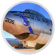 Boeing B47 Sac Bomber Round Beach Towel