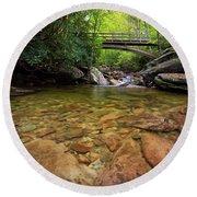 Boone Fork Bridge - Blue Ridge Parkway - North Carolina Round Beach Towel