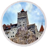 Round Beach Towel featuring the photograph Bran Castle by Fabrizio Troiani
