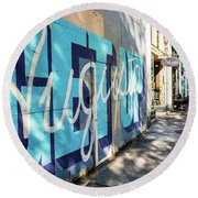 Broad Street Downtown Augusta Ga Round Beach Towel