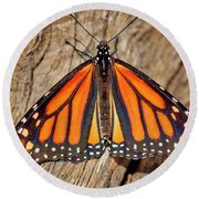 Butterfly Wings Round Beach Towel