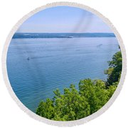 Cayuga Lake Round Beach Towel