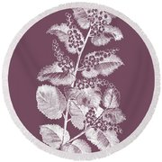 Cerasus Purple Flower Round Beach Towel