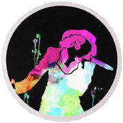 Christina Watercolor Round Beach Towel