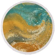 Round Beach Towel featuring the painting 1 Chronicles 29 11. Everything Is Yours Lord by Mark Lawrence