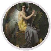 Clio, Muse Of History, 1800 Round Beach Towel