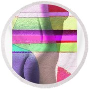 Curves In Color Round Beach Towel