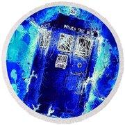 Doctor Who Tardis Round Beach Towel