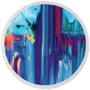 Drenched Round Beach Towel