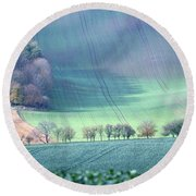 Autumn In South Moravia 1 Round Beach Towel