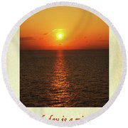 Each Day Is A Miracle Round Beach Towel