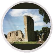 Elgin Cathedral Round Beach Towel