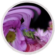 Round Beach Towel featuring the photograph Floral Tsunami by Wayne King