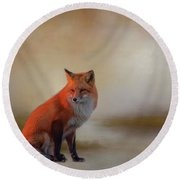 Foxy Round Beach Towel