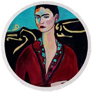 Frida Kahlo. Round Beach Towel