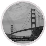 Round Beach Towel featuring the photograph Golden Gate Bridge by Stuart Manning