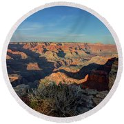 Grand Canyon National Park Spring Sunset Round Beach Towel