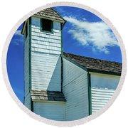 Historic Mcdougall Church, Morley, Alberta, Canada Round Beach Towel